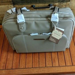 New Leather Clark& Mayfield Handbag Grey